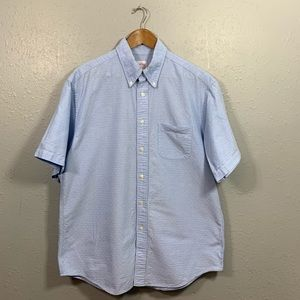 Brooks Brothers Textured Polo Button Down Sz L